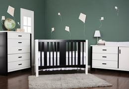 Cafeina 3 Drawer Chest Room Shot - Black and White