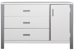 Cafeina 3 Drawer Chest Front Silo - White and Grey