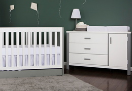 Cafeina 3 Drawer Chest Room Shot - White and Grey