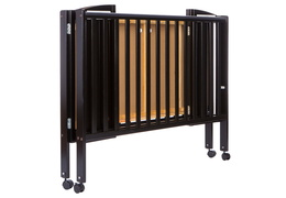 Black Folding Full size Crib Silo