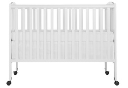 White Folding Full size Crib Silo