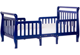 Dark Blue Emma Toddler Bed Silo SIde