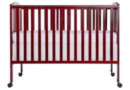 Cherry Folding Full Size Crib Silo