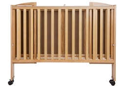 Natural Folding Full Size Crib Silo