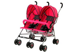 Pink Twin Stroller