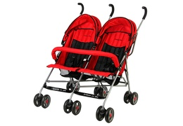 Red Twin Stroller