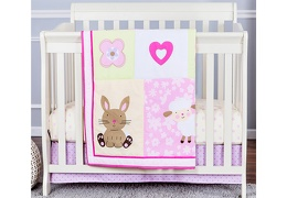 Naptime friends 3 Pcs Set Reversible Portable crib set