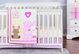 Naptime friends 5 Pc Reversible Full Size crib set