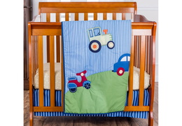 Travel Time 3 Pc Reversible Portable crib set