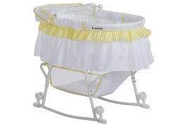 Lacy Bassinet Yellow and White