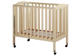 French White 3 in 1 Folding Portable Crib Silo