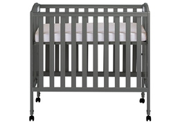Steel Grey 3 in 1 Folding Portable Crib Silo