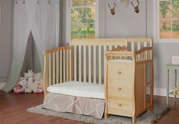 Natural Jayden 4 in 1 Mini Convertible Crib and Changer Room Shot
