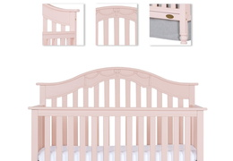 Charlotte 5 In 1 Convertible Crib Room Shot Details