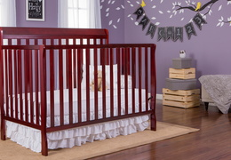 Cherry Alissa 5 in 1 Convertible Crib