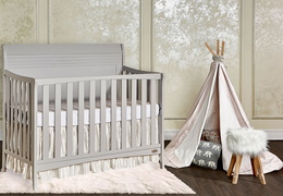 Bailey 5 In 1 Convertible Crib Room Shot Side
