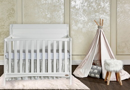 751-W Bailey 5 In 1 Convertible Crib Room Shot Front