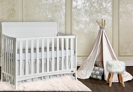 751-W Bailey 5 In 1 Convertible Crib Room Shot Side