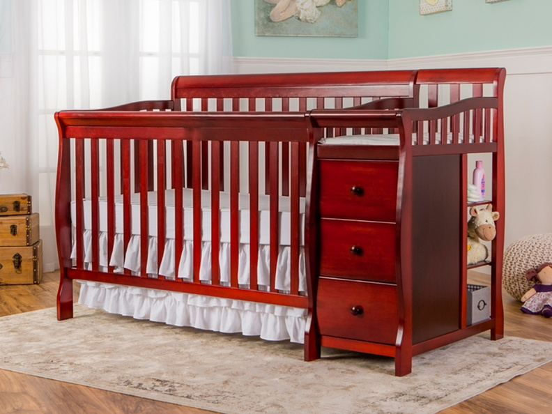 Cherry Brody 5 in 1 Convertible Crib with Changer