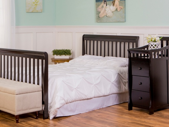 Black Brody 5 in 1 Full Size Bed with Footboard