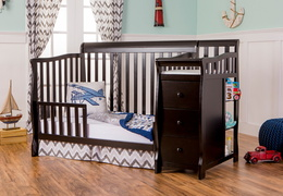 Black Brody Toddler Bed with Changer