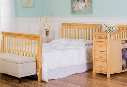 Natural Brody 4 in 1 Full Bed with Footboard