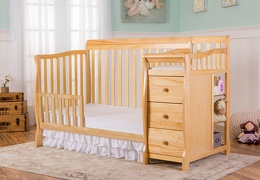 Natural Brody 4 in 1 Toddler Bed