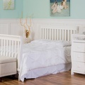 White Brody 5 in 1 Full Bed with Footboard