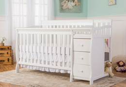 White Brody 5 in 1 Crib