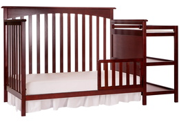 665 C Cherry Chloe Toddler Bed With Changer Silo