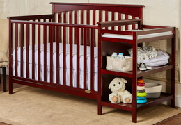 665 C Cherry Chloe 5 in 1 Convertible Crib With Changer RS