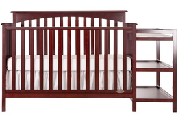 665 C Cherry Chloe 5 in 1 Convertible Crib With Changer Silo Front