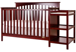 665 C Cherry Chloe 5 in 1 Convertible Crib With Changer Silo Side 1
