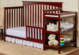 665 C Cherry Chloe Toddler Bed With Changer RS