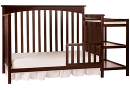 Espresso Chloe Toddler Bed With Changer Silo