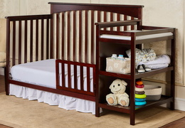 Espresso Chloe Toddler Bed With Changer Silo RoomShot