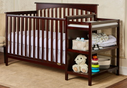 Espresso Chloe 5 in 1 Convertible Crib With Changer RoomShot