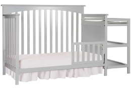 Grey Chloe Toddler Bed With Changer Silo
