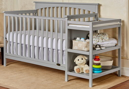 Chloe 5 in 1 Convertible Crib with Changer