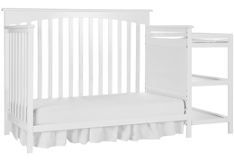 White Chloe Day Bed With Changer Silo