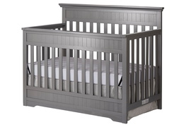 Storm Grey Chesapeake 5-In-1 Convertible Crib Side Silo