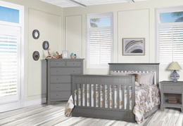 Storm Grey Chesapeake Full Bed Fooboard Room Shot