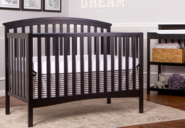 Black Eden 5 in 1 Crib Room Shot
