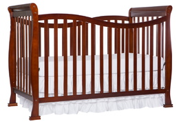 Espresso Violet 7 in 1 Crib Silo Side