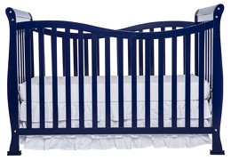 Royal Blue Violet 7 in 1 Crib Side