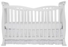 White Violet 7 in 1 Crib Front