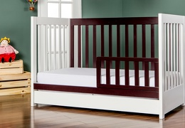 White and Chocolate Milano 5 in 1 Toddler Bed Room Shot