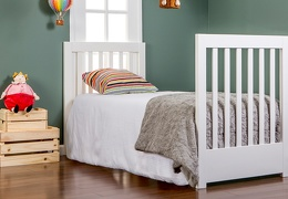 White and Chocolate Milano 5 in 1 Youth Bed with Footboard Room Shot
