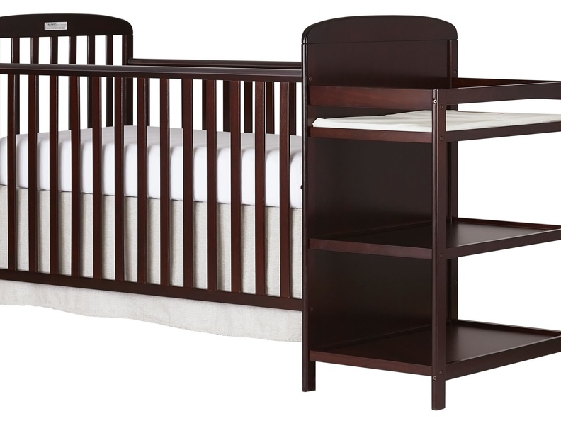 678-C Anna 4 in 1 Full Size Crib and Changing table Side Silo