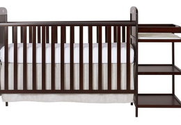 Cherry 4 in 1 Full Size Crib and Changing table Silo